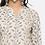 Thumbnail: Chacha's101736 printed muslin kurta with striped palazzo pants and face mask