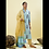 Thumbnail: Chacha's 180126 block printed kurta with printed palazzo pants and dupatta