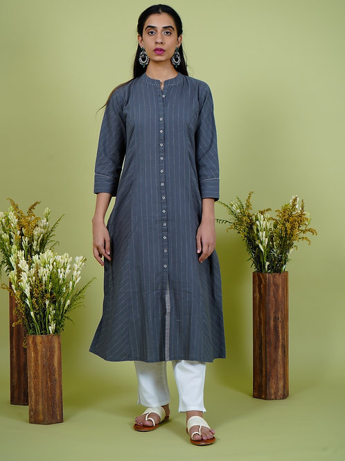 Chacha's 101902 striped cotton kurta set
