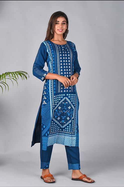 Chacha's 101888 Printed cotton kurta set