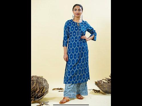 Chacha's 101836 cotton silk kurta with rayon palazzo pants