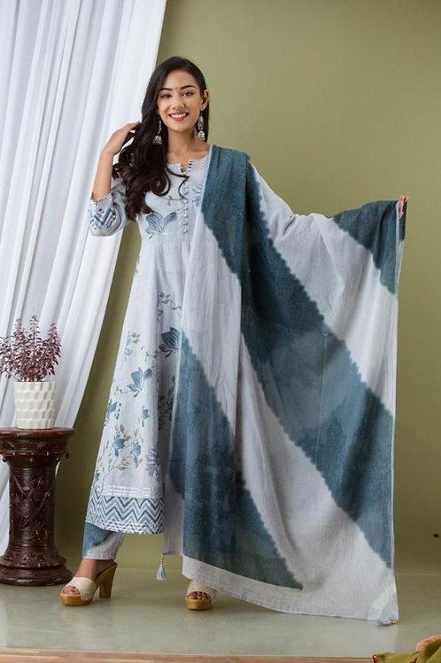 Chacha's 21317 cotton Anarkali kurta set