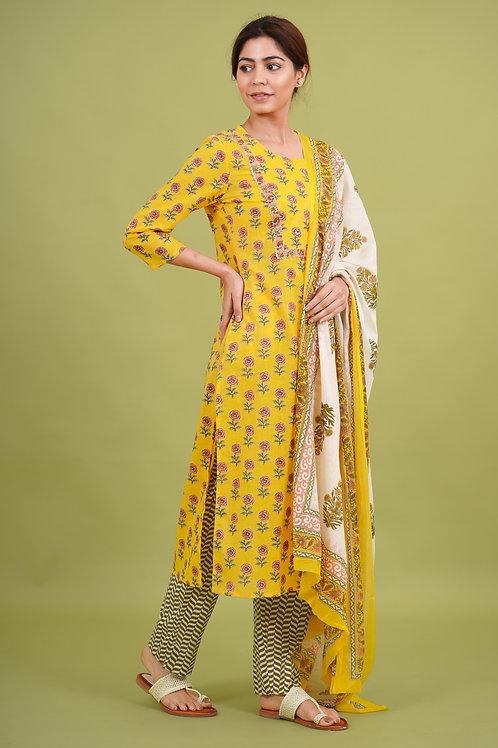 Chacha's 21346 printed cotton kurta set