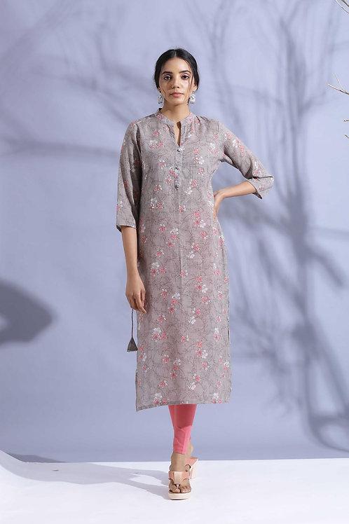 Chacha's120043 digital print Muslin kurta