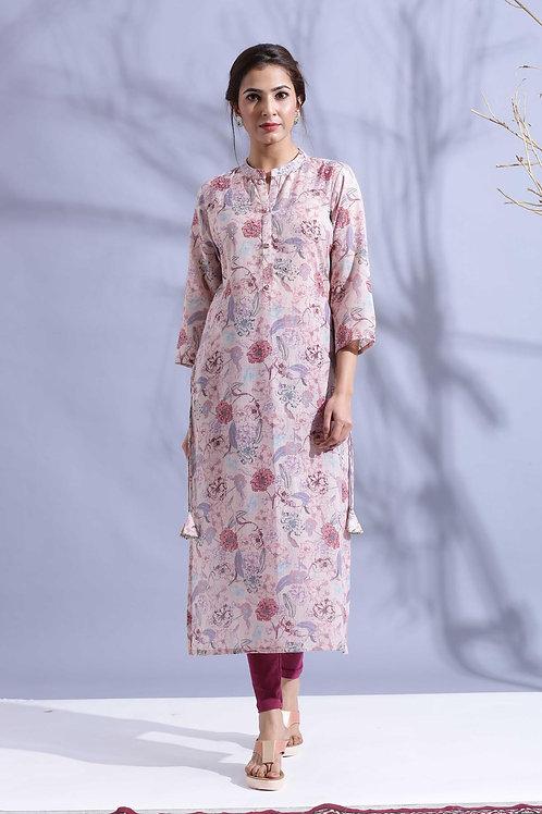 Chacha's120042 digital print muslin kurta