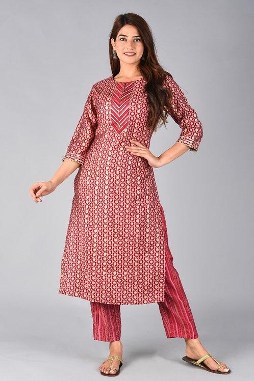 Chacha's 101877 cotton silk kurta set