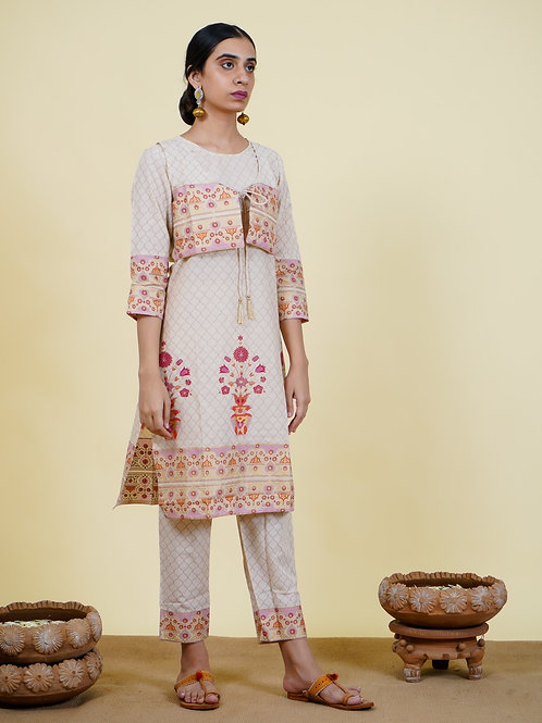 Chacha's 101922 printed cotton kurta set