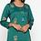 Thumbnail: Chacha's 101852 printed rayon kurta with printed palazzo pants