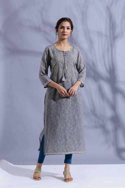 Chacha's120041 digital print muslin kurta