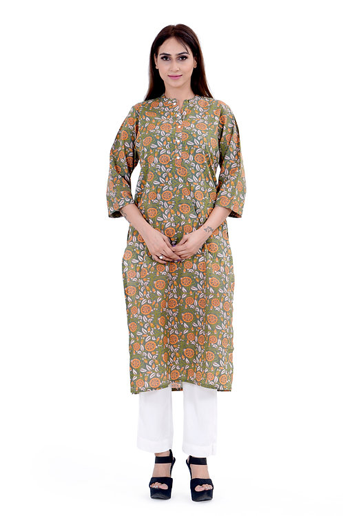 Chacha's120016 printed cotton kurta