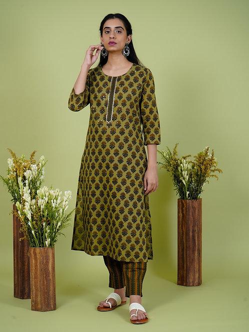 Chacha's 101910 printed cotton kurta set