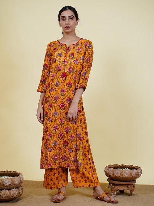 Chacha's 101933 Printed rayon kurta set