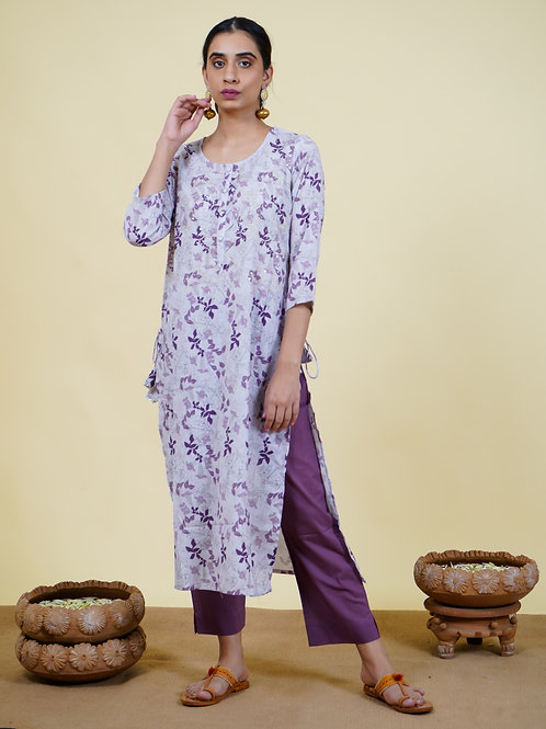 Chacha's 101921 Printed cotton kurta set