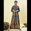 Thumbnail: Chacha's 101830 long A-Line rayon kurta with thread embroidery detailing.