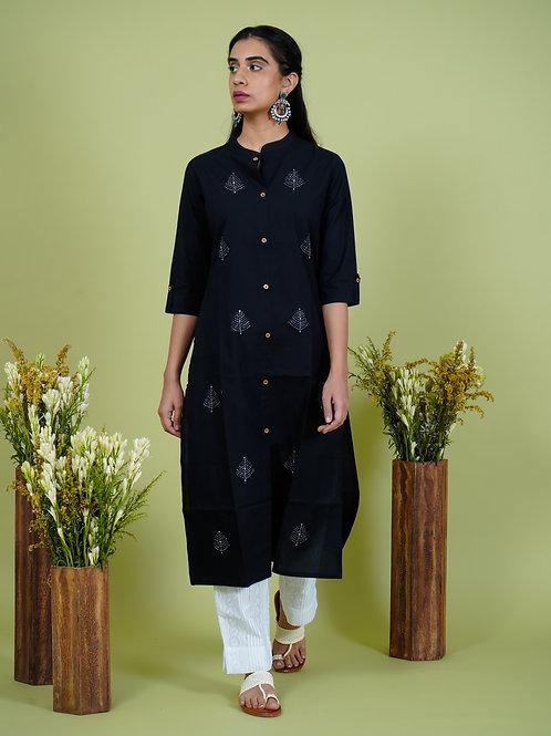 Chacha's 101908 cotton kurta set with chikankari pants