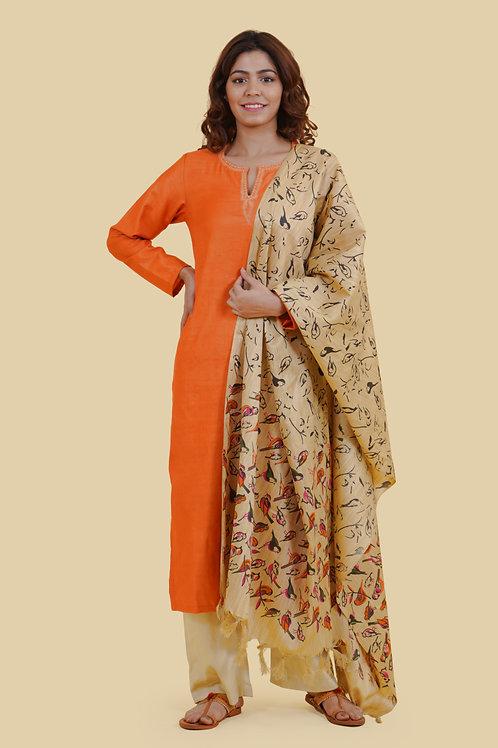 Chacha's 21324 handloom cotton kurta set with dupatta