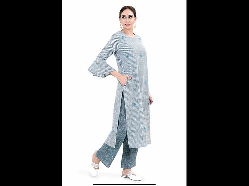 Chacha's101706 cotton kurta with palazzo pants