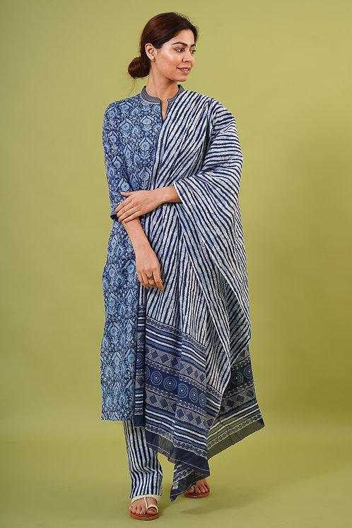 Chacha's 21350 printed cotton kurta set