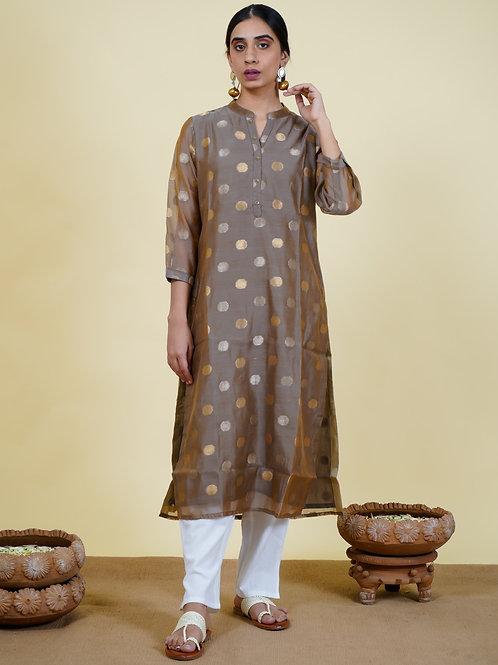 Chacha's 101930 printed chanderi silk kurta