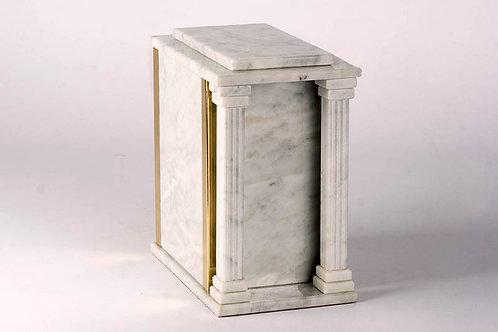 Urne marbre F2-Blanc Carrera