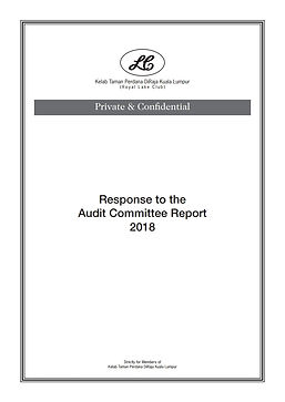7a. Reponse to the Audit Committee Repor