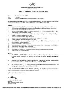 1.  Notice of the Annual General Meeting