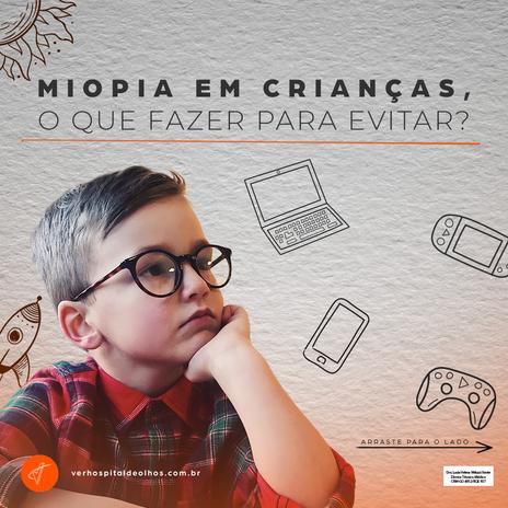 Miopia em crianças, o que fazer para evitar?