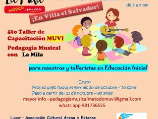 Taller de Pedagogía Musical MUVI con La Mila  en Villa el Salvador - noviembre 2017