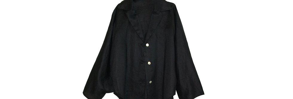 COOMB / 変形リネンドレープジャケット