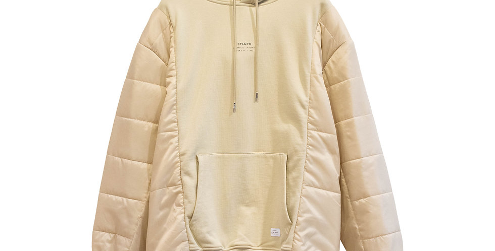 STAMPD / STACKED PUFFER HOODIE(Beige)