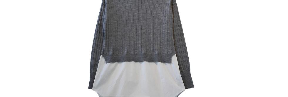 ADAWAS / ニットドッキングシャツ(grey)