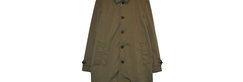 arbre / Cotton Stretch Stand Fall Collar Coat(Khaki)