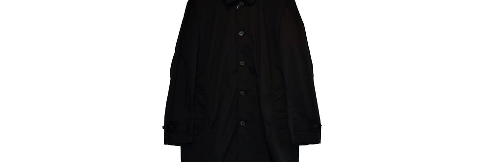 arbre / Cotton Stretch Stand Fall Collar Coat(Black)