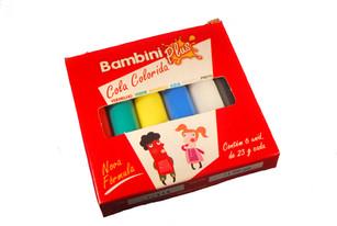 Cola Colorida Bambini Plus 25g c/6
