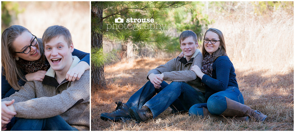 Haley + Damian Engagement Photography in Midlothian, Virginia