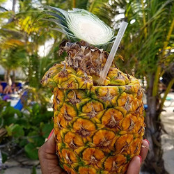 Guess what's in this pineapple_ _#pineapple #RIU #puntacana #drinks #beachbum #sand #dominican #minn
