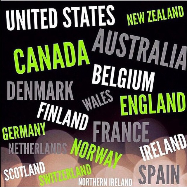 Facebook - Tag a friend who lives in one of these countries! #Australia #Belgium