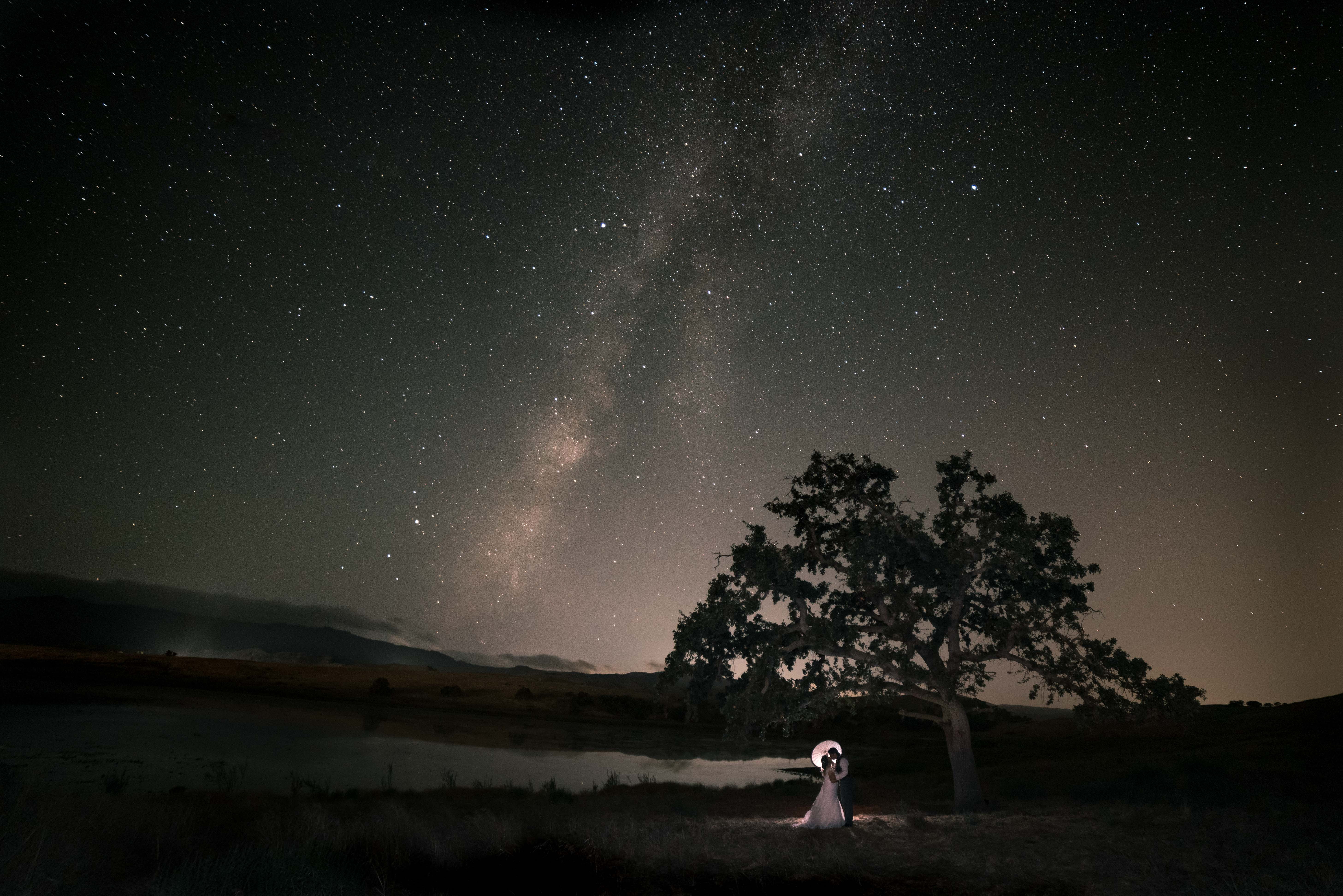 Pacines Ranch Wedding Milky Way
