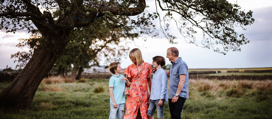 Lancashire Family Photoshoot In The Fields