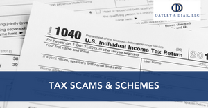 Tax scams and schemes