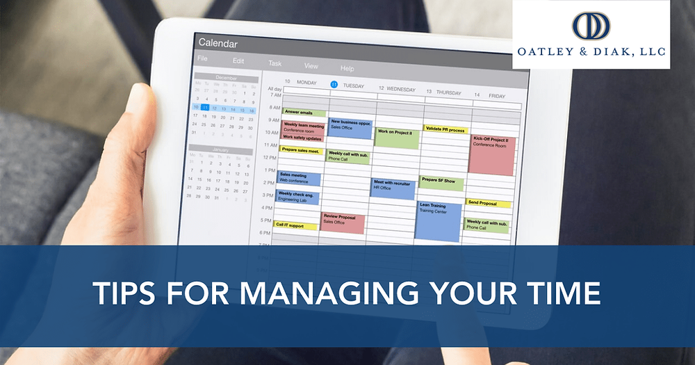 Tips for Managing Your Time