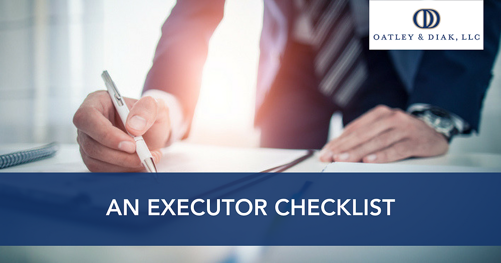 Steps required of executors of an estate.