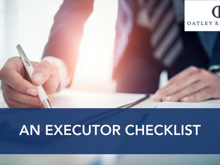 An Executor Checklist
