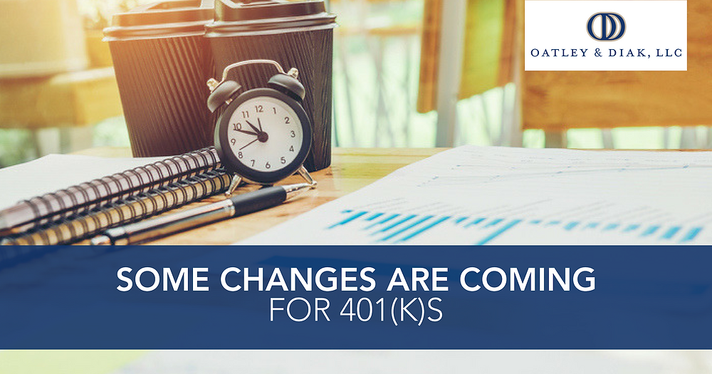 401k changes for 2019