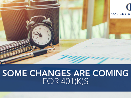Some Changes Are Coming for 401(k)s