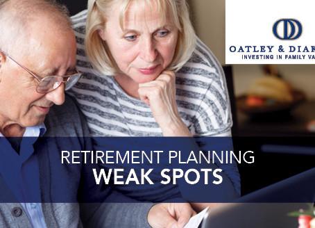 Retirement Planning Weak Spots
