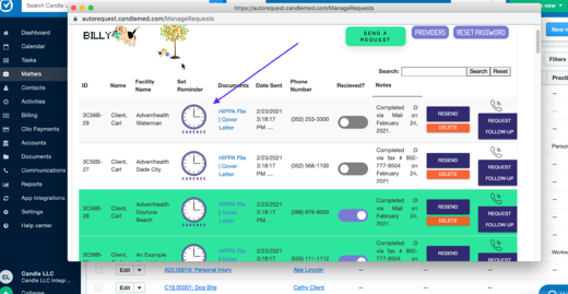 Cadence – Automated Clio Reminders