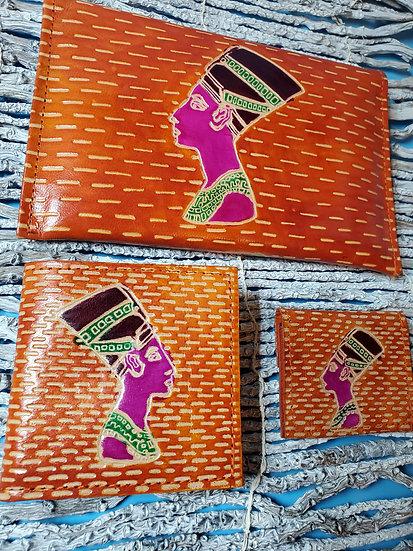 Nefertiti Leather Purse Orange