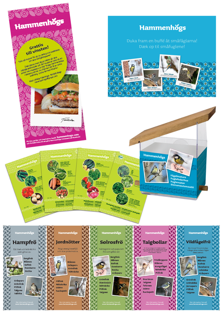 POS, flyers, packaging