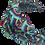 Thumbnail: The Rainbow Headband-Aqua and Plum